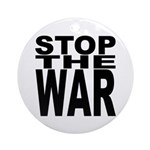 Stop The War Ornament (Round)
