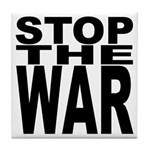 Stop The War Tile Coaster