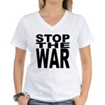Stop The War Women's V-Neck T-Shirt