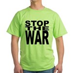 Stop The War Green T-Shirt