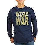 Stop The War Long Sleeve Dark T-Shirt