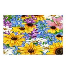 blooms in the garden Postcards (Package of 8)
