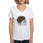 Caffeine Mantra Women's V-Neck T-Shirt
