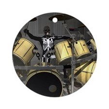 Big Drum Set 2 Round Ornament