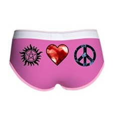 peace love spn mirror Women's Boy Brief