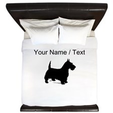 Custom Scottish Terrier King Duvet