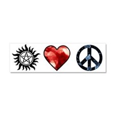 peace love spn mirror2 Car Magnet 10 x 3