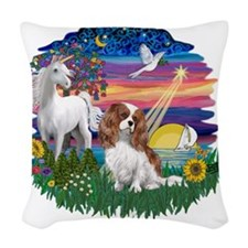 Magical Night - Cavalier (BL2) Woven Throw Pillow