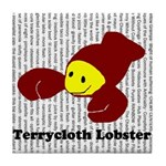 Terrycloth Lobster Tile Coaster