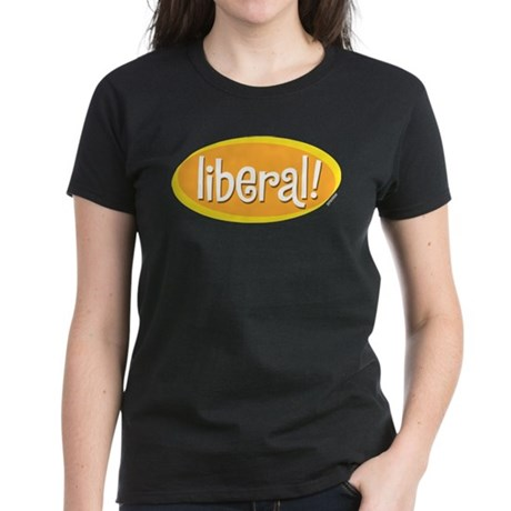 Liberal Womens Black T-Shirt