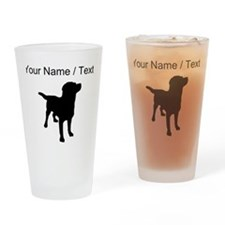 Custom Labrador Retriever Drinking Glass