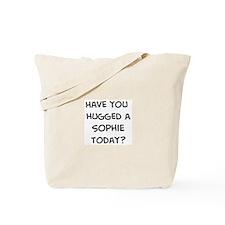 Hugged a Sophie Tote Bag
