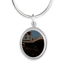 Nubble light keychain Silver Oval Necklace