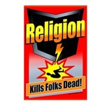 Religion: Kills Folks Dead Postcards (Pack of 8)