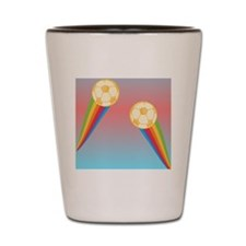 soccer rainbow Shot Glass