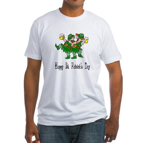 Leprechaun Dance Fitted T-Shirt