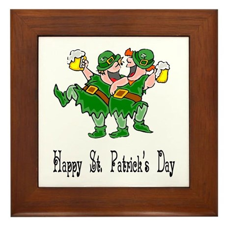 Leprechaun Dance Framed Tile