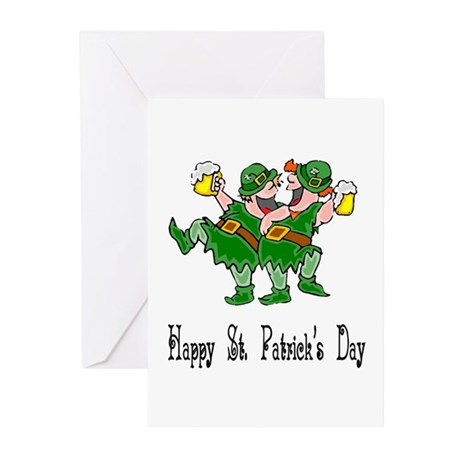 Leprechaun Dance Greeting Cards (Pk of 10)