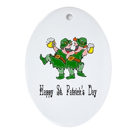 Leprechaun Dance Oval Ornament