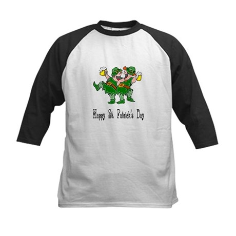 Leprechaun Dance Kids Baseball Jersey