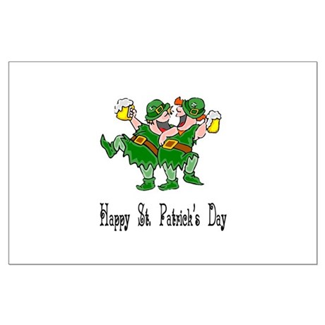 Leprechaun Dance Large Poster