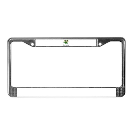 Leprechaun Dance License Plate Frame