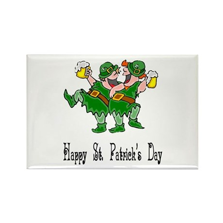 Leprechaun Dance Rectangle Magnet (10 pack)