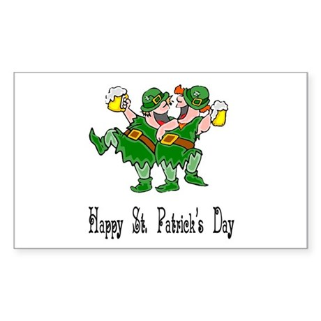 Leprechaun Dance Rectangle Sticker