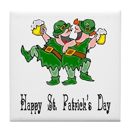 Leprechaun Dance Tile Coaster