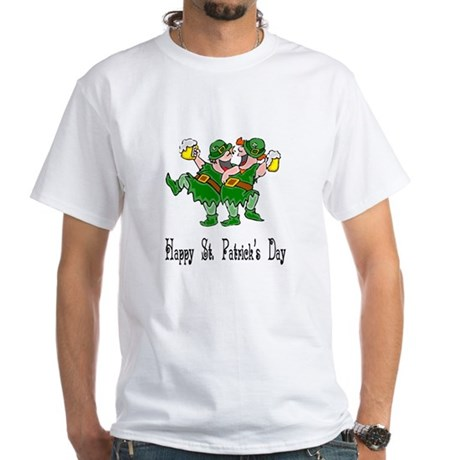 Leprechaun Dance White T-Shirt