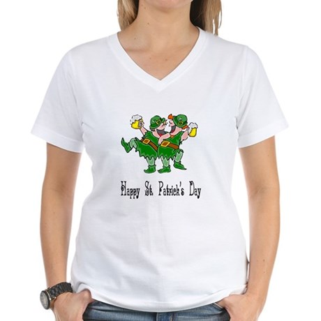 Leprechaun Dance Women's V-Neck T-Shirt