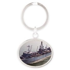 slake rectanle manet Oval Keychain