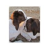 Boer goats Fleece Blankets