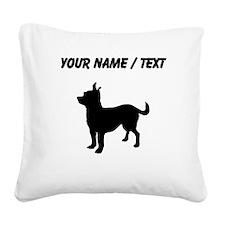Custom Chihuahua Square Canvas Pillow