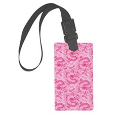 dragon-pattern_pink_12x18v Large Luggage Tag