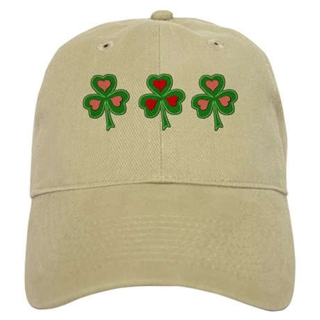 Pink/Red Hearts Shamrock Cap