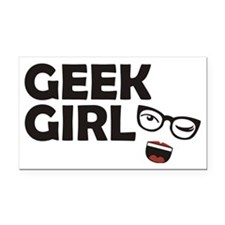 geekgirl Rectangle Car Magnet