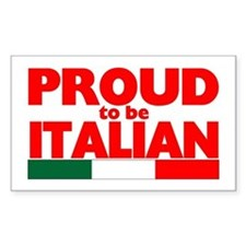 PROUD ITALIAN Rectangle Decal