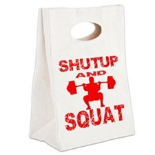 blk_shutup_and_squat Canvas Lunch Tote