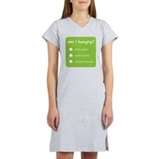 Design - HUNGER CHECK thick tex Women's Nightshirt