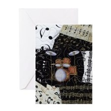 Drum-set-8064-kindle-nook Greeting Card