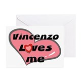 vincenzo loves me  Greeting Cards (Pk of 10)