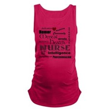 Mental Health Nurse Black-red h Maternity Tank Top