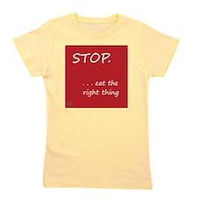 Design - STOP better corners - 10x10in Girl's Tee