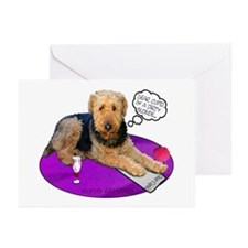 Airedale Valentine's Greeting Cards (Pk of 10)
