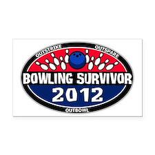 bowling survivor 2012 logo Rectangle Car Magnet