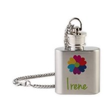 Irene-Heart-Flower Flask Necklace