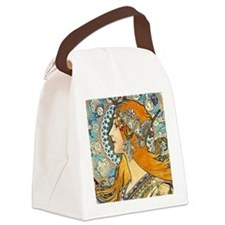 iPad S Mucha La Plume Canvas Lunch Bag