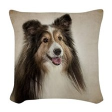 Mix and Match Sheltie Woven Throw Pillow