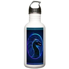 Horned Black Dragon _j Water Bottle